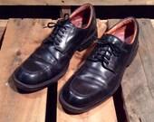 25% OFF // Men's 9 // Johnston & Murphy // Black Leather Square Toe Dress Shoe
