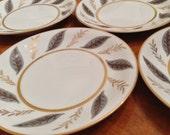 "Noritake ""Doris"" Set of Four Dessert Bread Wedding Cake Plates"