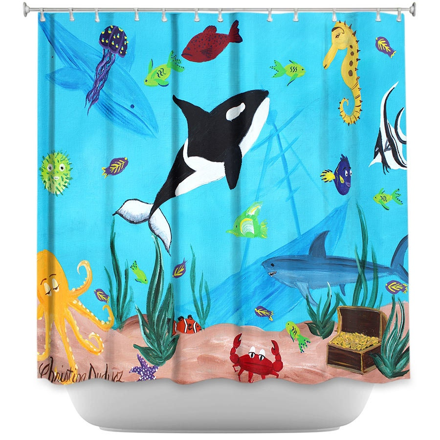 Shower Curtain Under The Sea Shower Curtain Ocean Shower
