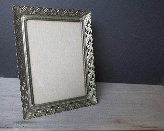 5 x 7 Frame Vintage Gold Filigree