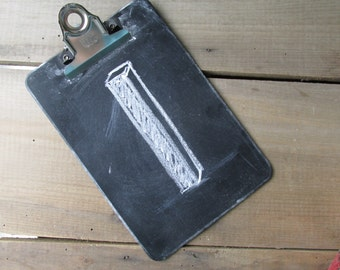Chalkboard Table Number On Small Clipboard