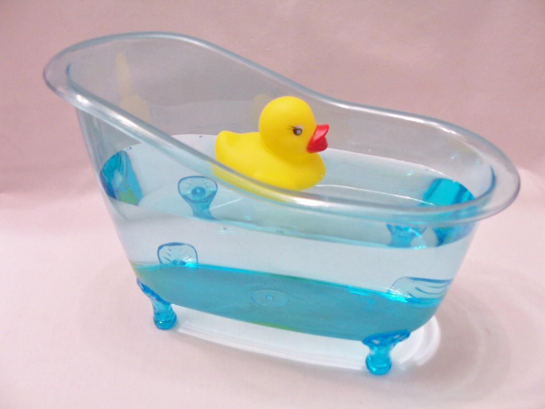 blue bathtub table centerpiece favour party table decor. Black Bedroom Furniture Sets. Home Design Ideas