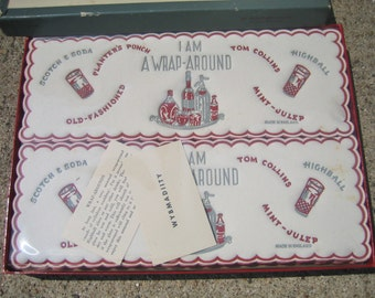 Vintage Wrap-Arounds Complete Set of 16 With Original Box Mid Century