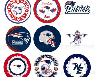 Printable New England Patriots Image Collage Sheet (one inch circles)