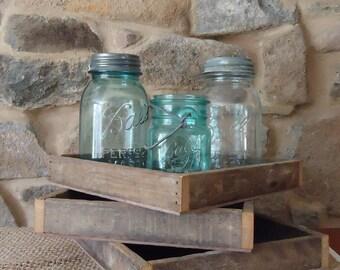reclaimed Wood box, tray, wedding tabletop, fairy garden planter, organizer, shadow box, wooden box, wedding centerpiece, 12 inch