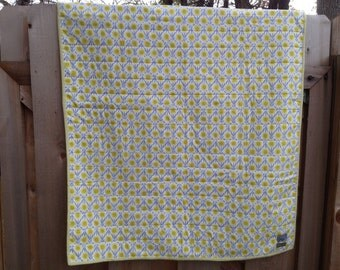 Baby Quilt - Yellow Flowers