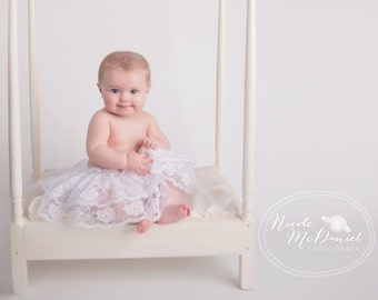 Lace Diaper Cover Skirt, infant petticoat, baby photo prop