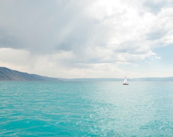 Sailing Bear Lake-  Landscape Utah Photography  5x7