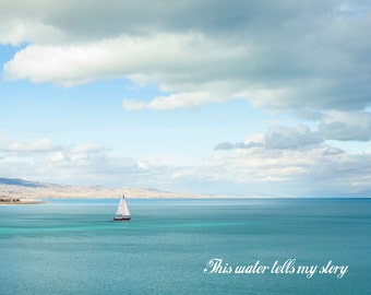 This water tells my story -Bear Lake Utah postcard
