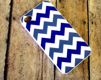 CHEVRON, Blue and gray chevron iPhone 4/4s case/cover No.4-13 clearance