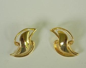 Vintage Gold Tone Post Earrings
