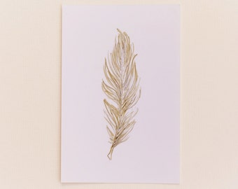Any 1 Feather Print, Portrait Style