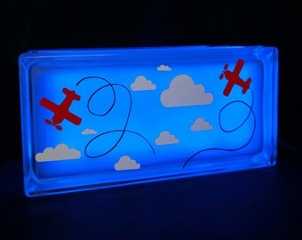 Flying airplane children's night light Globlock