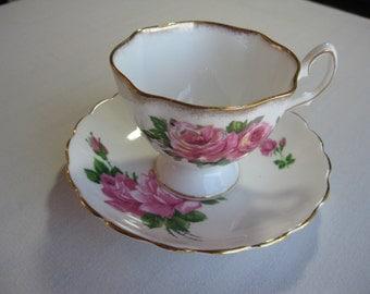 Pink Rose Bone China Teacup & Saucer England