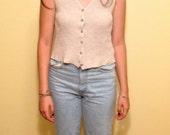 DKNY sweater vest // Audrey Horne Twin peaks