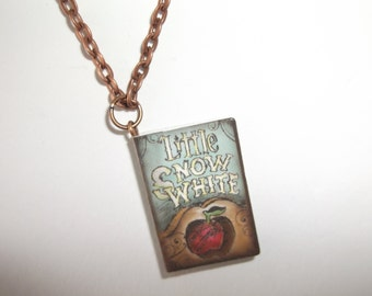 Story Book Necklace -Little Snow White - For Book Lovers - Little Snow White Book