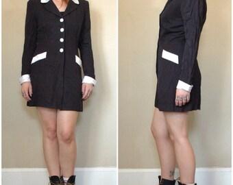 Sale Vintage 80's 90's power suit jacket Dress