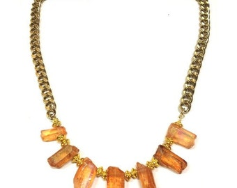 Orange Crystal Necklace