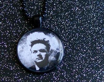 Eraserhead Necklace - Jack Nance as Henry - David Lynch Black Pendant