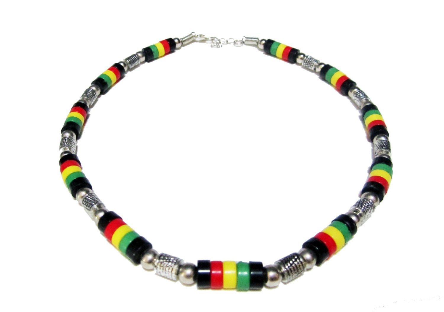 rasta necklace jamaican style surfer necklace