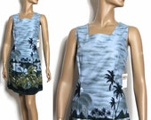 Vintage 1960s Dress Hawaiian NOS tags attached Rockabilly Retro Garden Party Cocktail Mad Men Couture Pinup Hourglass Femme Fatale Wiggle