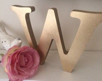 Gold wooden  letter individual shabby chic