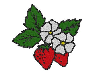 Strawberries Embroidery Design