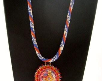 Coral Floral Necklace