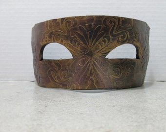 Costume mask, Mardi Gras Mask, one of a kind, Masquerade ball, hand painted, black purple and gold