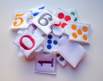 Felt Numbers Matching Game, Learning toy