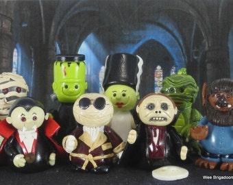 Wee Monster Miniature Collection OOAK fairy garden, cake topper, ornament, handmade