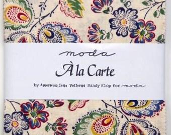 Ala Carte Charm Packs by Sandy Klop, American Jane Patterns for Moda.