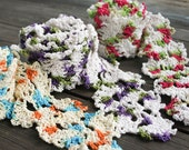 Crochet Simple and Colorful Queen Anne's Lace Scarf - aureliaslittleroom