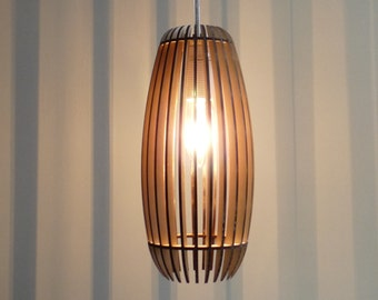 Woodshades - Lamello - laser cut wooden lamp - diy kit