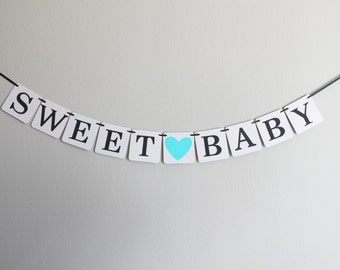 baby shower banner - baby shower decorations - sweet baby