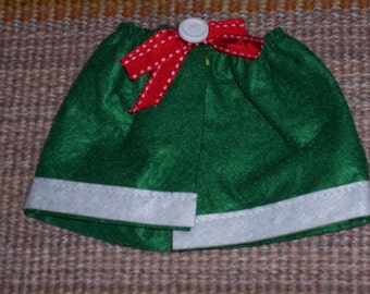 Green felt shawl,caplette,cape,3.25 inch neck width,nanny,granny,snowlady,doll,teddy,craft,Irish doll