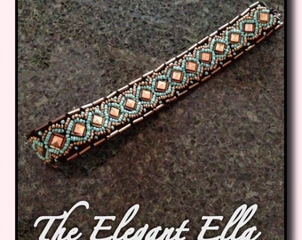 Adult turquoise beaded bohemian headband