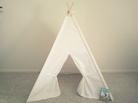 Like this item? & White Teepee Canvas Tent White Tipi Wigwam or Kids Fort the