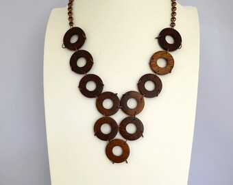 Wood Bib Necklace