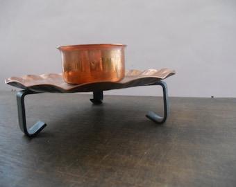 Swedish Vintage brass candle holder Metal candle holder Christmas candle holder