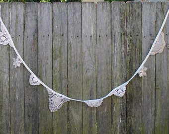 Wedding Bunting. Vintage Lace Bunting. Bohemian Bunting. Wedding Garland. Wedding Decoration. Wedding Bunting. Photo Prop. Nursery Decor.