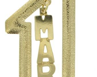 Mark Mickey Peter Phil Ralph Name Pendant Necklace #1 Boyfriend Jewelry Vintage