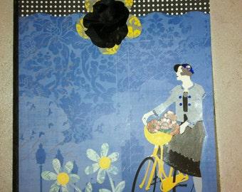 Handmade Journal Lady on a Bike