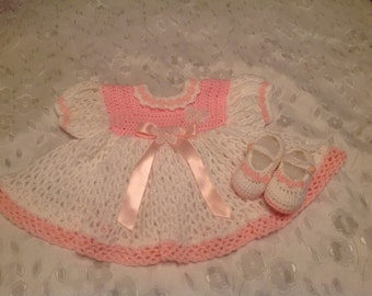 Pink and the White Dress Size 0-3 Months