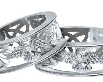 Wedding rings for girls Owl wedding rings