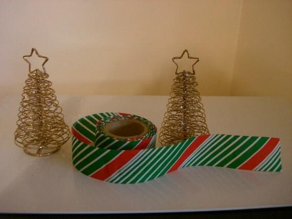 Vintage christmas fabric ribbon over 5 yards craft for Vintage christmas craft supplies