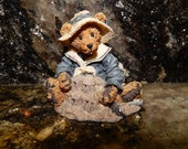 Vintage Boyd's Bears Figurine - Figure - Wilson at the Beach