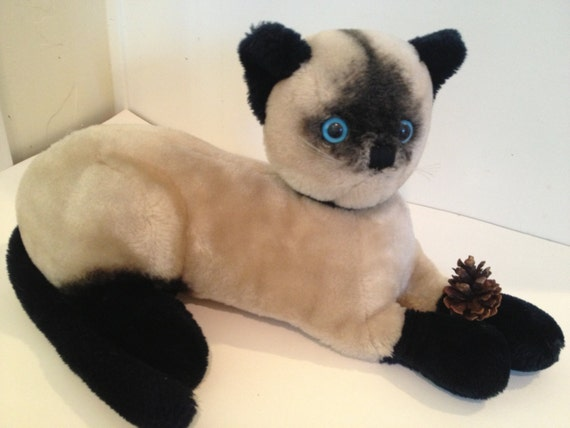 Stuffed Cat With Nursing Kittens