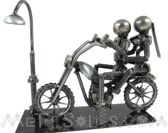 Couple on Bike Sculpture