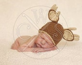 The Original Crochet Antler Deer Hat,Perfect for the Junior Hunters out there!